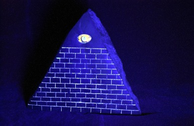 Pyramid under black light